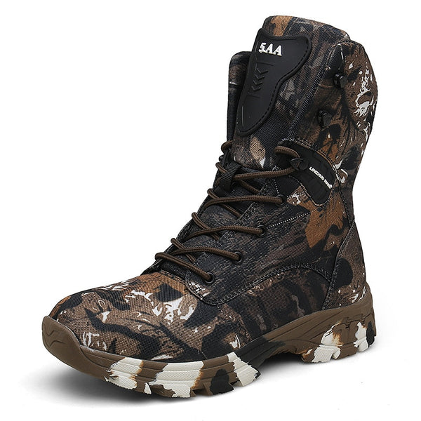 Oxford Waterproof Military Men Tactical Boots Camouflage Disguise Outdoor Hunting Boots for Men Size 47 Mid calf Trekking Shoes|Hiking Shoes