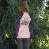 Women's Rash Guard Purple Scales Made in the USA