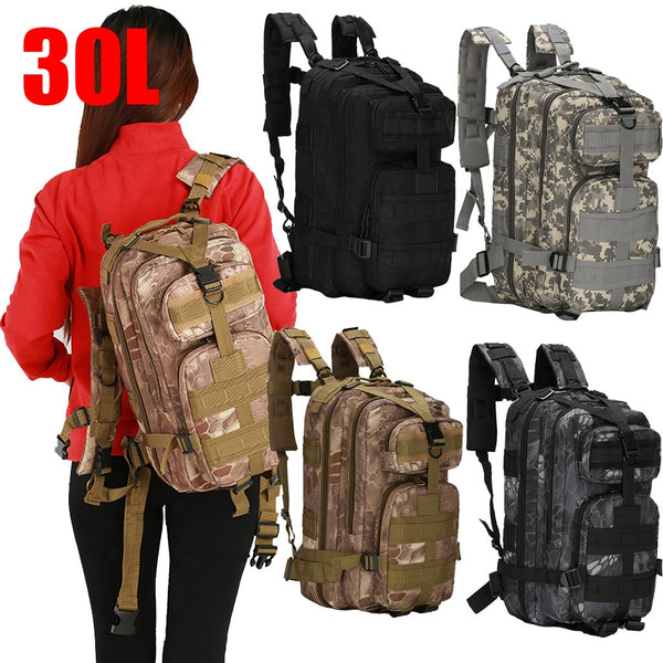 Tactical Bag First Aid Kits Waterproof Fanny Pack Sports Hunting Bags Camping Sport  Army Bag Belt Military Backpack 30L #16.76