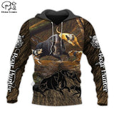 Boar hunting with labs Hoodie