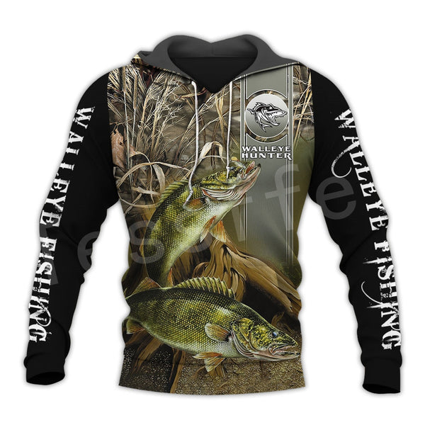 Fishing Walleye Hoodie