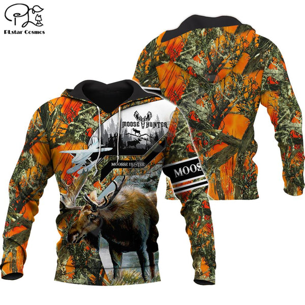 Moose Hunter orange Plane Hoodie