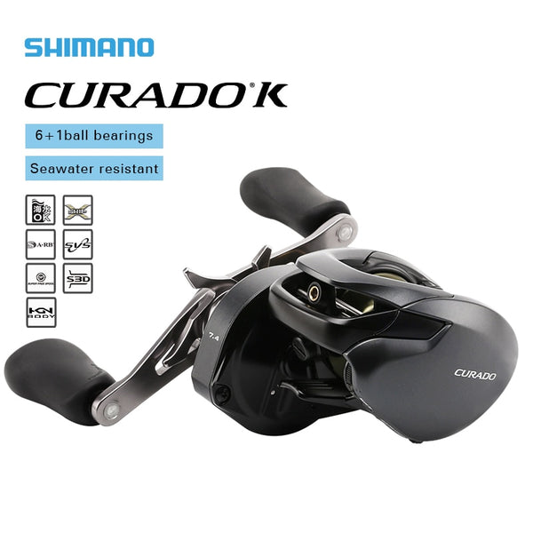 SHIMANO CURADO K Low profile fishing reel 201/200HG/201HG 200XG/201XG Gear Ratio 6.2:1/7.4:1/8.5:1 6+1BB Bait Casting reels
