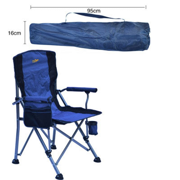 Heavy Duty Camping Chairs for Adults Sturdy Folding Lawn Chair with Hard Arms and Portable Carry Bag Comfortable for Outdoor