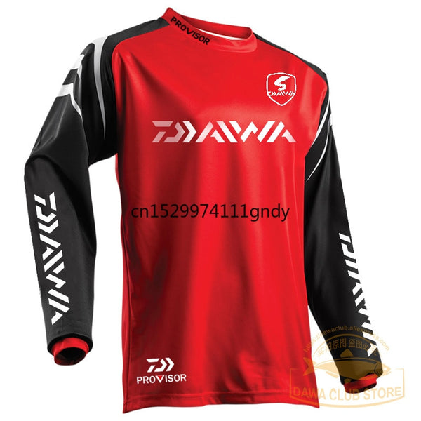 DAIWA Fishing Clothing Quick-Drying Sun UV Protection T Shirt Vests Sports Clothes Fishing Clothes Fishing Shirts Cycling Wear