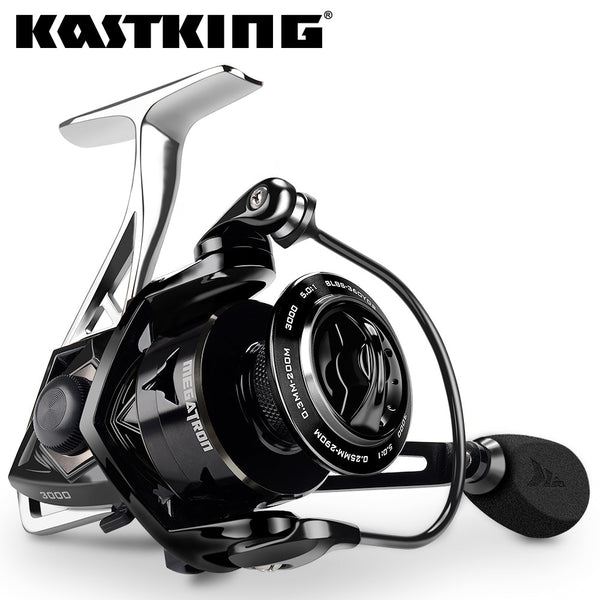 KastKing Megatron 18KG Max Drag Carbon Drag Spinning Fishing Reel With Large Spool Aluminum Body Saltwater Spinning Fishing Reel