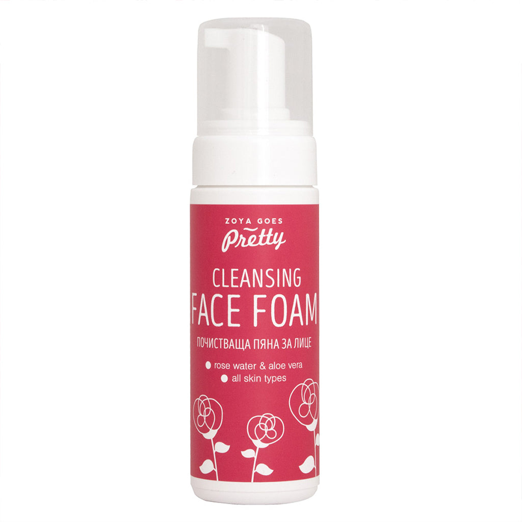 Cleansing Face Foam Rose & Aloe 玫瑰保濕潔面泡沫 150ml