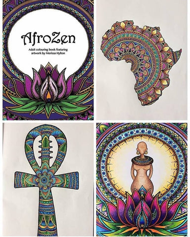 AfroZen Adult Colouring Book Black Owned Brands The Shopping Circle
