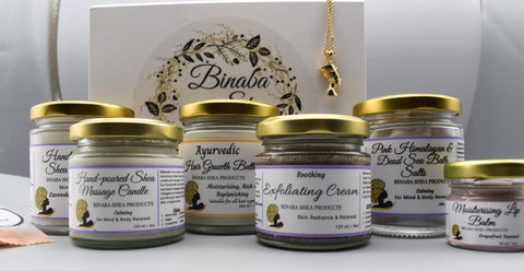 Binaba Shea Products Pamper package black brands