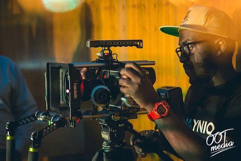 Etienne Kubwabo filming his creative projects before releasing beats of war