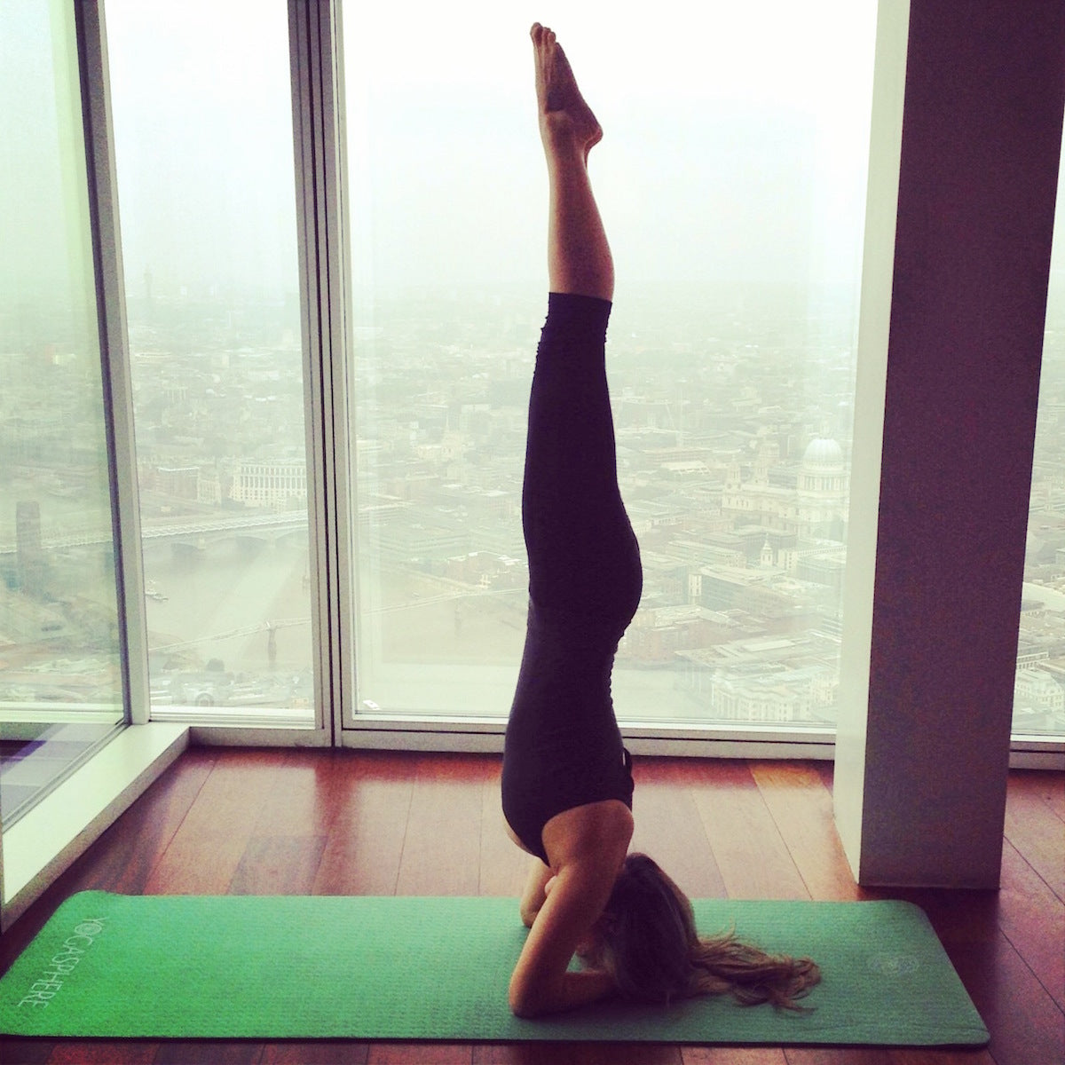 We Tried Out An Awesome Yoga Class At The Top Of Western Europes Tallest Building Shard In London And Got A Whole New View On As Well Our Fab