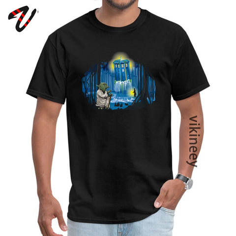 Yoda Master Tardis Starry Night Tshirts