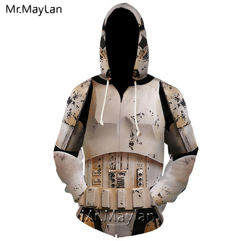 3D Star Wars The Mandalorian Zip Hoodies Men/Women