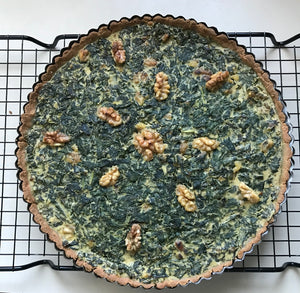 KALE & WALNUT TART