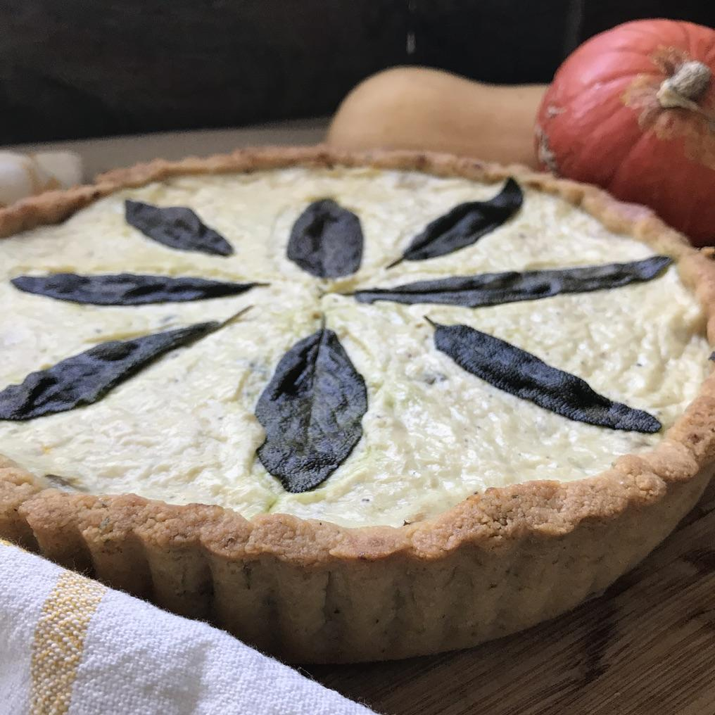 CARAMELISED ONION & PUMPKIN TART