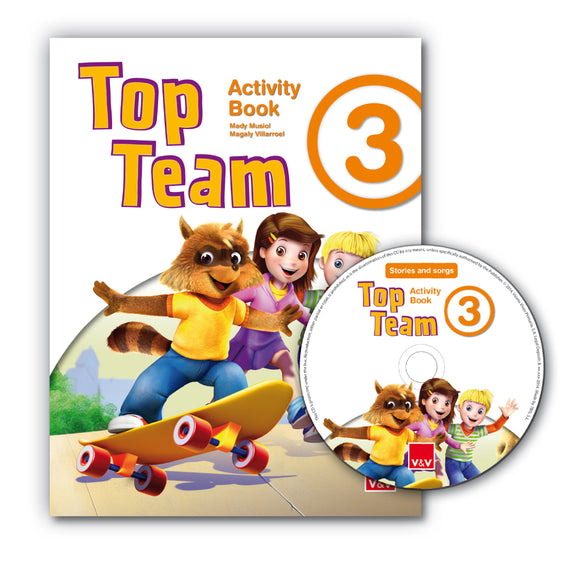 Top Team 3 Activity Book + Cd Stories And Songs