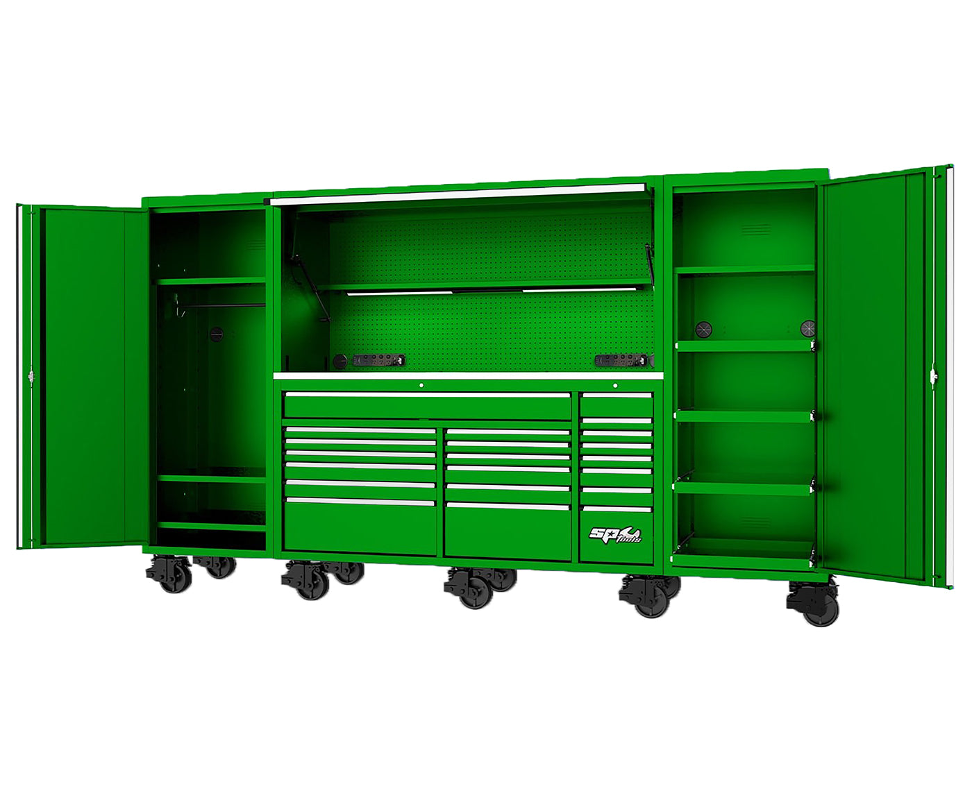 "128"" USA SUMO SERIES COMPLETE WORKSTATION - GREEN"