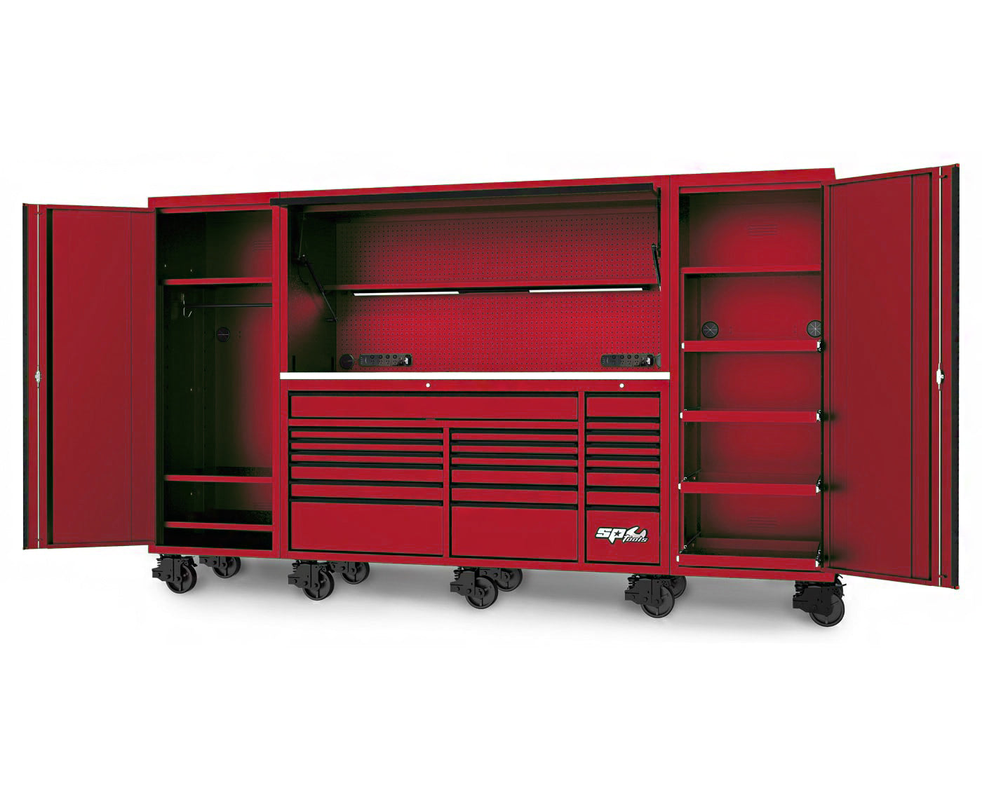 "128"" USA SUMO SERIES COMPLETE WORKSTATION - RED"
