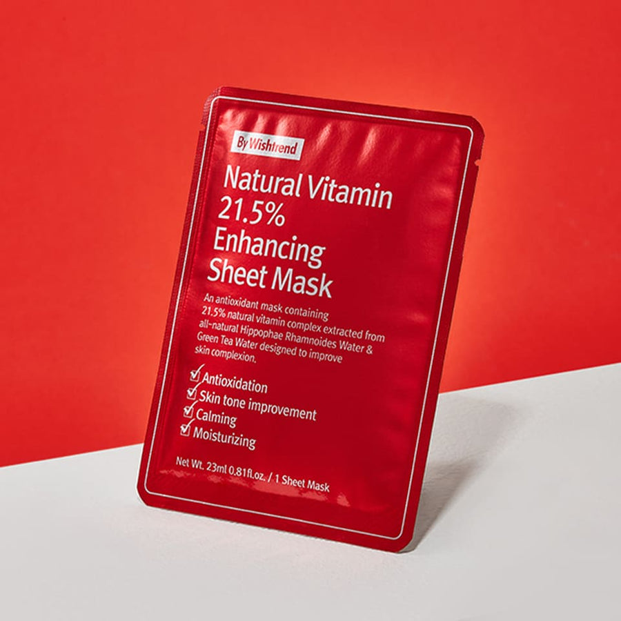 Natural Vitamin 21.5 Enhancing Sheet Mask | 23ml X 1 sheet