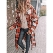 Women'S Plaid Woolen Coat