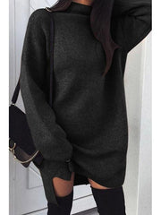 Women'S Halloween High Neck Plain Batwing Sleeve Sweaters