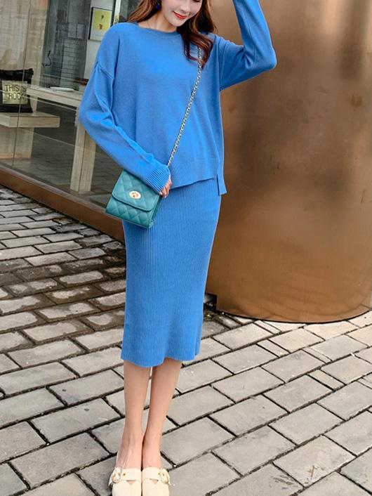 Women'S Long-Sleeved Skirt Suit