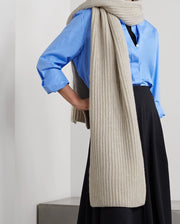 Women'S Fashion  Ribbed Cashmere Scarf