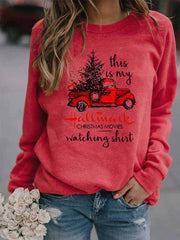 Women's This Is My Hallmark Christmas Movies Watching Shirt Top