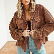 slouchy fit corduroy jacket
