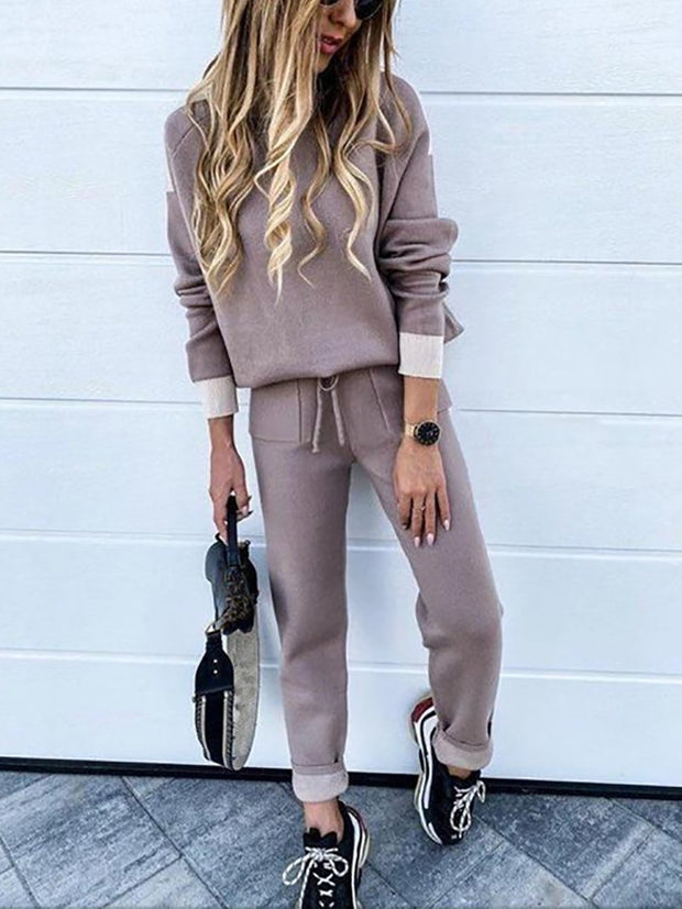 Women'S Halloween Fashion Casual High Neck Long Sleeve Two-Piece Suit
