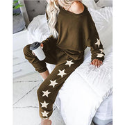 Women;S Halloween Loose Fashion Printed Long-Sleeved Casual Suit