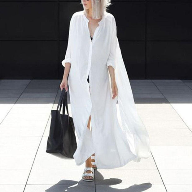 Women'S Outside Long Cardigan Dress