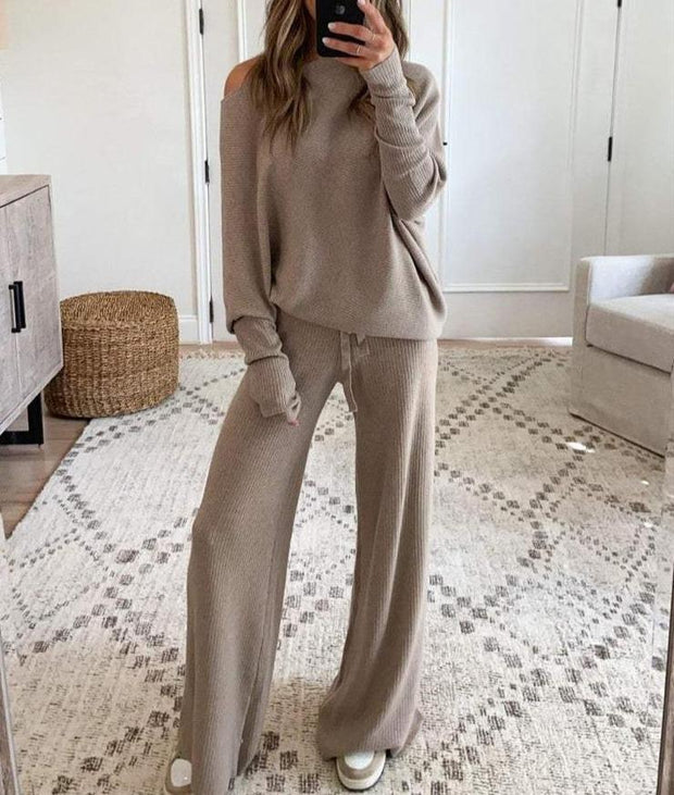Women'S Fashion Feel It In The Air Tan Lounge Suit