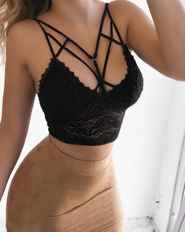 Women'S Sexy Solid Sling Lace Underwear