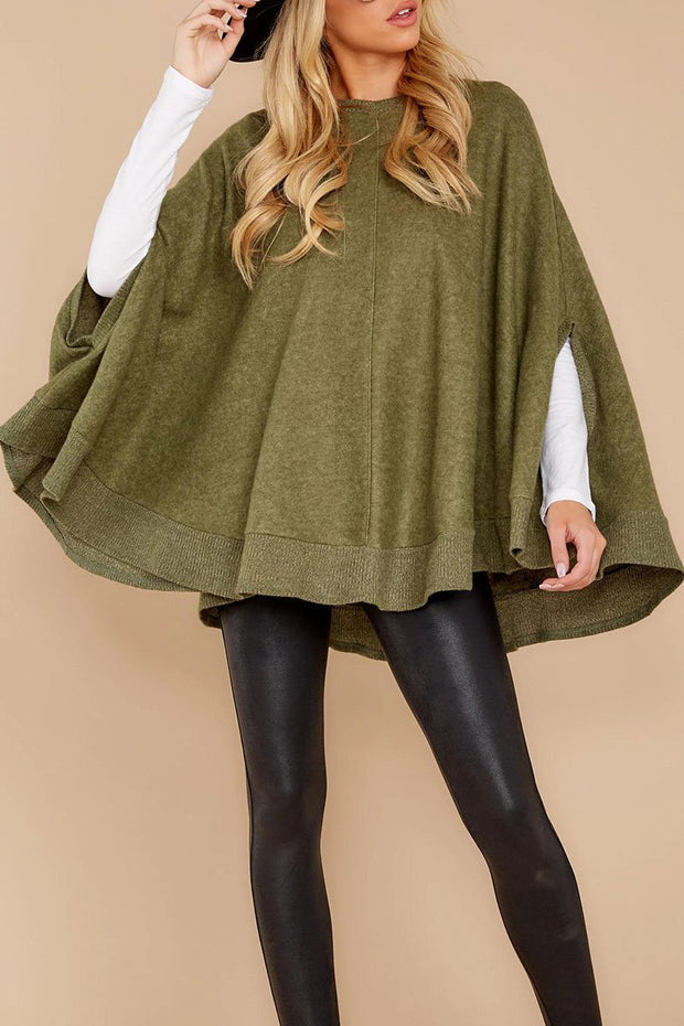 Women's Fashion cloak design Stitched sleeve poncho Sweatshirt
