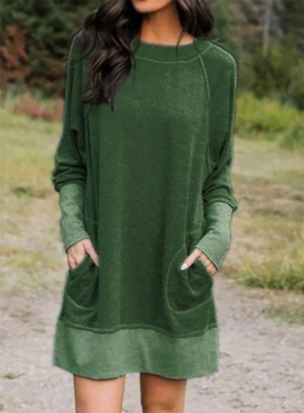 Women'S Fashion Long Sleeve Casual Fall Casual Dresses