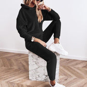 Women'S Fashion Gold Velvet Hooded Long Sleeve Casual Suit