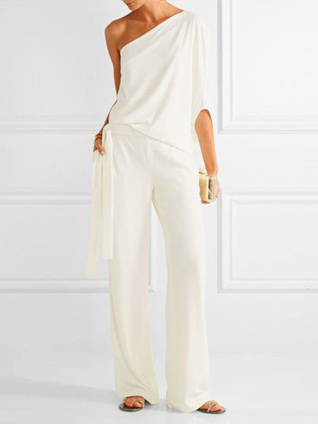 Fashionable Elegant Simple Casual Loose Jumpsuit