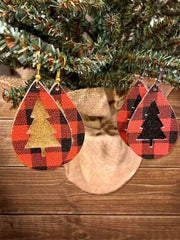 Buffalo Plaid Christmas Earrings