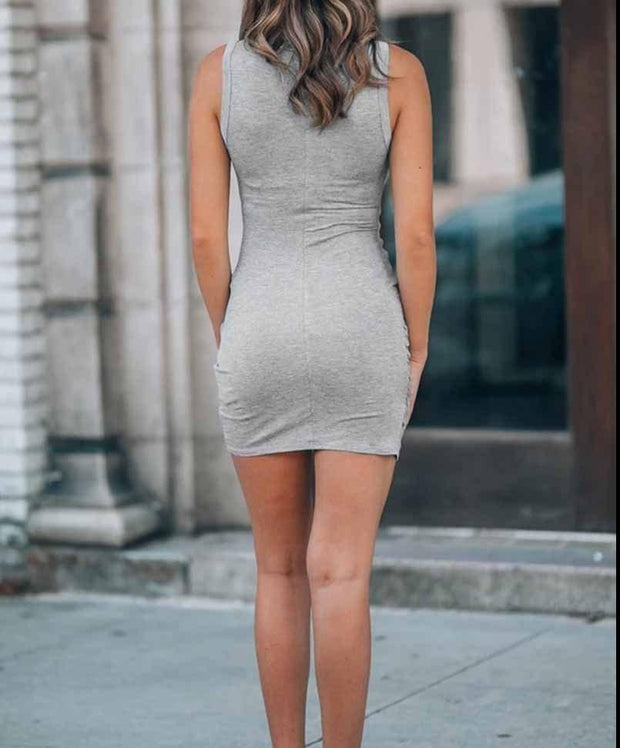 Women'S Zeewer Casual Hollow-Out Sleeveless Hot Mini Dress