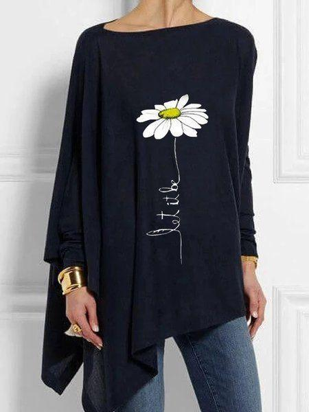 Women's Floral Casual Long Sleeve Shirts