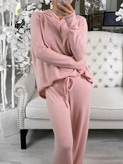 Women's Hooded Casual Comfortable Knitted Suit