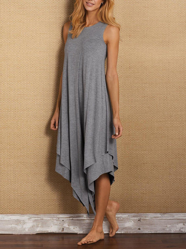 Women's Simple Casual Loose Irregular Dress