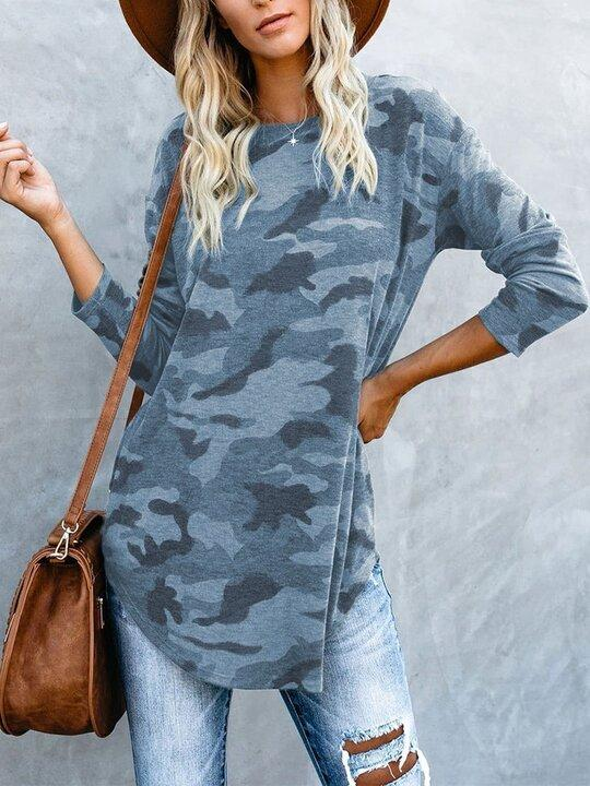 Women's New Hot Sale Camouflage Long Sleeve T-shirt