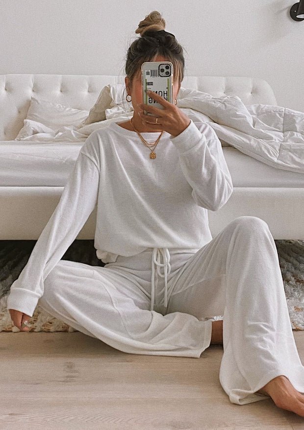 Women'S Fashion Simple White Casual Suit