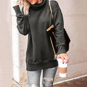 Women'S Casual Pile High Collar Long Sleeve Sweatshirt