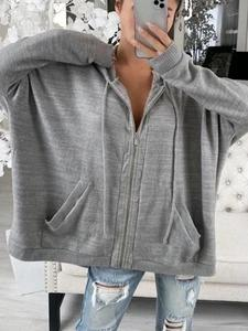 Women's  Hooded Knitted Drawstring Top