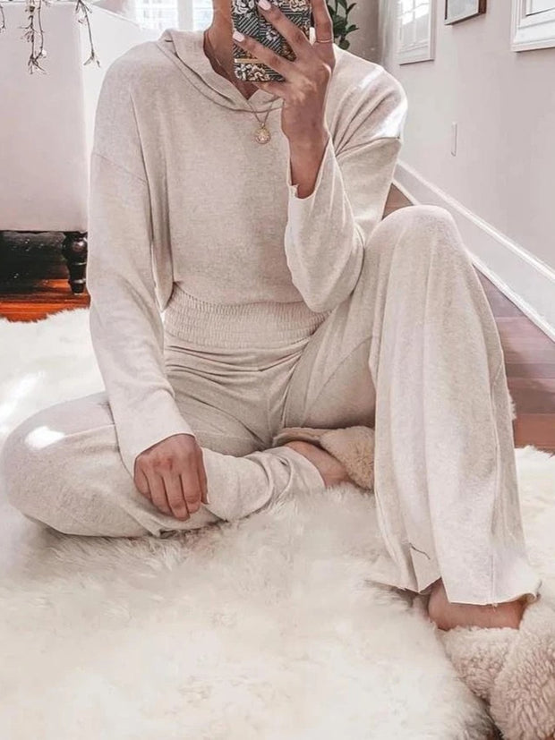 Women'S Halloween Simple Loose Casual Lounge Top Pants Knitted Suit