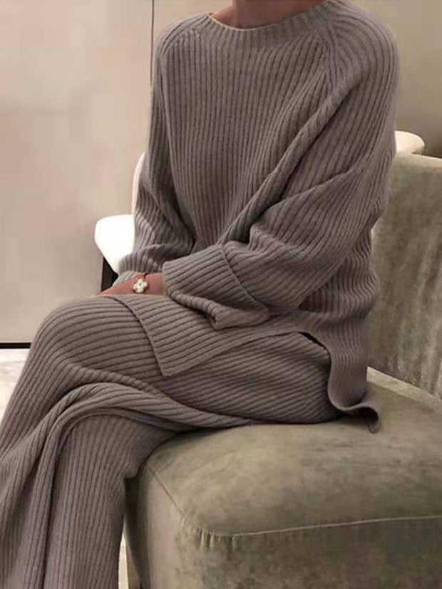 Women'S Fashion Knitted Striped Suit