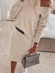 Women'S  Fashion Loose Sweater Suit